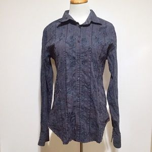 Ted Baker London Patterned Button Down Shirt L